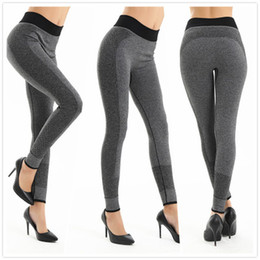 Wholesale Girls Sport Tights - girl Fashion Tight Sportwear Nice Leggings High Elastic Thin women Sports Yoga Pants Fitness Running Long Trousers Legging