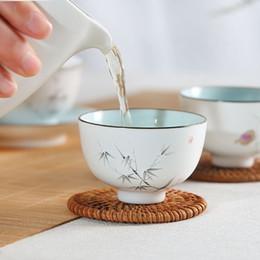 Canada Tasses à thé chinoises à la main 70ml Petite tasse à thé Kung Fu Jingdezhen petites bols en céramique à la main cheap bowls wine Offre
