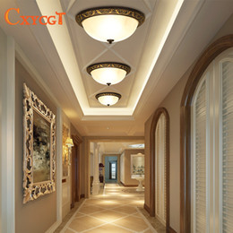 Vetro d'ottone da soffitto d'epoca online-Lampade da soffitto vintage americano per soggiorno camera da letto luminaria e27 vetro Edison lampada da soffitto casa apparecchi di illuminazione