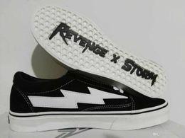 4e7e8f96dfbe 2018 Revenge x Storm Old Skool Green Blue Black Red Yellow Mens Women  Canvas Shoes Kendall Jenner Ian Connor Skate Sneakers
