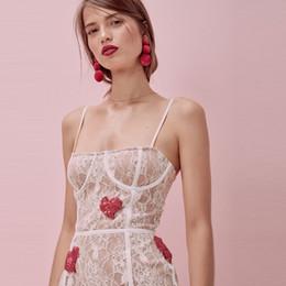 3b0a9b5d6 8 Fotos Compra Online Vestido rojo corazón blanco-Sexy Lace Red Heart Party  Dresses Short White Mini