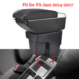 Wholesale Honda Stores - For HONDA JAZZ FIT armrest box central Store content box cup holder ashtray decoration products interior car-styling 2014-2017