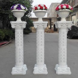 Wholesale Mascot Led - White Plastic Roman Columns Road Cited For Wedding Favors Party Decorations Hotels Shopping Malls Opened Welcome Road Lead
