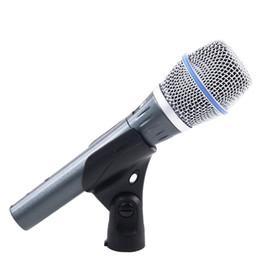 Canada BETA87C Professionnel Microphone Filaire Dynamique Pour Ordinateur BETA 87C 87 Studio Mic Microfone Mélangeur Karaoke Amplificateur cheap amplifiers for microphone Offre
