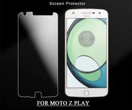 Protector de pantalla protector de rotura online-PURE KASE para Moto Z play Protector de pantalla de vidrio templado Film Guard 9H Dureza Explosion Shatter Film