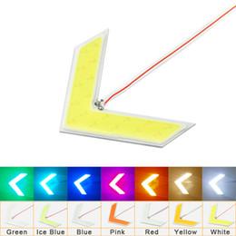 20 pcs Auto COB 18SMD 18LED Flèches Indicateur de Sécurité Safe Panneaux Clignotant De Voiture Côté Clignotant Lumière 7-Couleur # 1437 ? partir de fabricateur