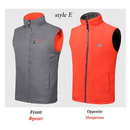 Discount polar fleece jackets men - Men's Reversible Polar Fleece Vest Brand Two-Sided Wear Outerwear Coats With Zipper And Pocket Sleeveless Jacket Male Waistcoat