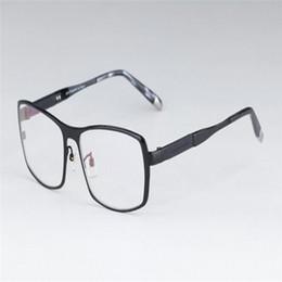 b93ecc6b73 MONGOTEN Pure Titanium Hombres de negocios Borde completo Anteojos ópticos  ultraligeros Marco Lentes transparentes Miopía Anteojos Gafas para gafas  rebajas ...