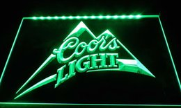 Wholesale Beer Sign Led - LS036-g coors light beer bar pub logo neon Light Signs Decor Free Shipping Dropshipping Wholesale 8 colors to choose