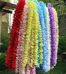 2019 materiais de grinalda por atacado Festa de Casamento Bouquet Festivo Festivo Flores Decorativas Wisteria Garland BH18025