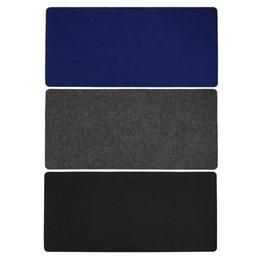 Ratones de lana online-70 * 33 cm Alfombrillas de ratón Simple Warm Office Mesa de escritorio de la computadora Teclado Juego Alfombrilla de ratón Wool Felt Pad Negro Gris Azul