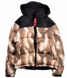 Бедро лошади онлайн-Зима новые мужчины женщины пуховик европейский и американский стиль хип-хоп личность лошадь волосы с капюшоном вниз хлопок пальто