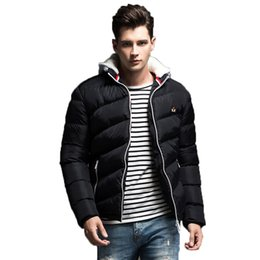 e36082ca1632f 2018 Autumn Winter Mens Jacket Coat Warm Cotton Down Padded Wadded Coat  Hooded Long Sleeve Male Quilted Jackets