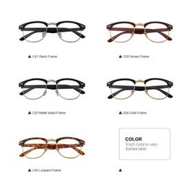 37380c495c NEW ARRIVAL Classic Retro Clear Lens Nerd Frames Glasses Fashion Brand  Designer Men Women Eyeglasses Vintage Half Metal Eyewear Frame