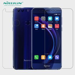 Wholesale plastic film material - Whole Unit Plastic PET Material Honor 8 Back Protective Film + Screen Protector For Huawei Honor 8
