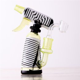 Wholesale Free Modeling - Bong Bongs Dropship Glass Water Pipe Recycler Bong 14.4mm Male Joint Watering Can Modeling Deep Carving Hot Sales