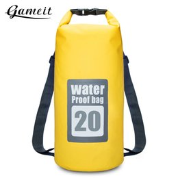Gameit 20L Water Resistant Dry Sack Bag Swimming Traveling Rafting Backpack  Storage Outdoor Sport Bags Travel Kit 2 Colors 1f4b0fdfd47ad