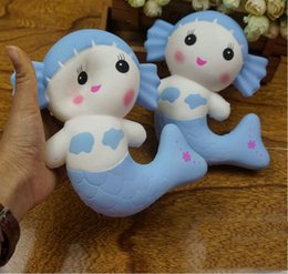 Wholesale Squishy Original - Squishy Jumbo Mermaid Beauty Girl Slow Rising Kid Toy Phone Charm Original Gift Squeeze Anti-strss Toys DDA112