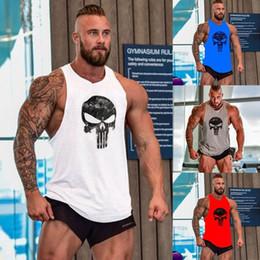 Gimnasio de hombre Camisetas sin mangas Ropa deportiva de esqueleto Chaleco sin mangas Ropa Camisa sin mangas desde fabricantes