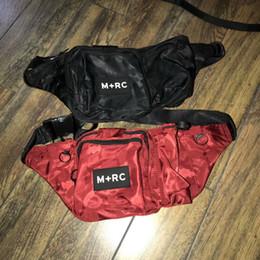 Wholesale Fashion Hip Belt Bag - M+RC NOIR RR Waistbag Cross Body Hip Waist Bag Pack Chest Pack Unisex Fanny Pack Waist Bag Men Canvas Waterproof Belt Messenger Bags