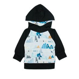 Wholesale boys hoodie - Kids Hoodies Sweatshirt Mountains Letter Cartoon Printed Cotton Blending Boy Girls Spring Autumn Winter Class A