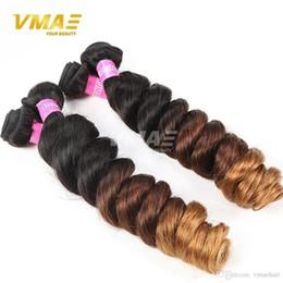 Ombre Perulu Saç Uzantıları Gevşek Dalga Modern Göster İnsan bakire Saç 3 Ton 1B # 4 # 30 Ucuz Perulu Bakire VMAE Saç 3 Demetleri örgüleri nereden