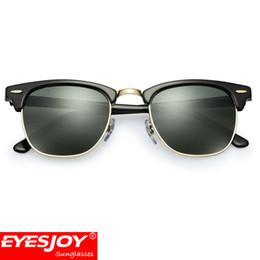 Wholesale metal half frame sunglasses - Classic Club Sunglasses for Men Brand Designer Sunglasses High Quality Metal Hinge G-15 Women Sunglasses With Original case
