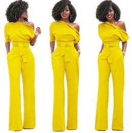 f3db24d207e8 Tsuretobe New Fashion Off the Shoulder Elegant Jumpsuits Women Plus Size  Rompers Womens Jumpsuits Short Sleeve Female Overalls