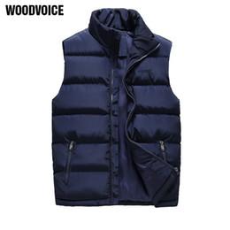 Wholesale Red Overcoat Men - Vest Men Fashion Autumn Winter Jacket Waistcoat Male Sleeveless Waterproof Mens Coat Overcoat Thicken Warm Vests Plus Size M-6XL