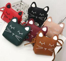 Wholesale kid children cell phone - child handbag cat handbag cute bag Cute Cat Girls handbag Children Kid shoulder bag black bag kids bags gift for girl