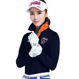 327aaf46aa1 white lady polo shirt Canada - Women T-Shirt Golf Clothes Long-Sleeve  Sunscreen
