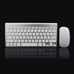 clavier pour apple tv Promotion Clavier et souris sans fil 2.4Ghz ultra-mince combinés avec récepteur USB Souris Clavier réglés pour PC WindowsXP / 7/8/10 argent