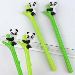 monos Rebajas Novela Koala Panda Monkey Climb Tree Bamboo Gel Pen Tinta Negro 0.5mm Papelería de Moda Creativa WJ030