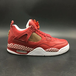 Wholesale china sneakers - New Arrival High quality 4s IIII china Red color Breathable Mens Basketball Shoes Sneakers for Men with free shipping