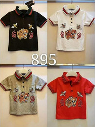 Wholesale tiger pattern clothing - New children's T-shirt summer cotton tiger head pattern children's boys summer short-sleeved T-shirt children's clothing fashion explosion m