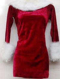 Wholesale sexy female santa costumes - costume MOONIGHT Women Dress Sexy Red Christmas Costumes Santa Claus for Adults Uniform Kimono Xmas Costume M L XL 2XL