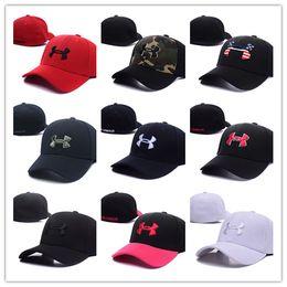 Wholesale hat mix - 2018 Hot New Men's Women's Basketball Snapback Baseball Snapbacks brand ua Football Hats Mens Flat Caps Adjustable Cap Sports Hat mix order