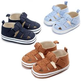 Летние мальчики девочки обувь мягкой подошвой детская кроватка обувь первые ходунки обувь Prewalkers для 0-18 м от