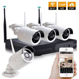 système de sécurité de surveillance Promotion Sans fil 4CH HD 720P NVR Système de vidéosurveillance étanche Etanche Caméra de surveillance WIFI Surveillance 4 canaux NVR Kit