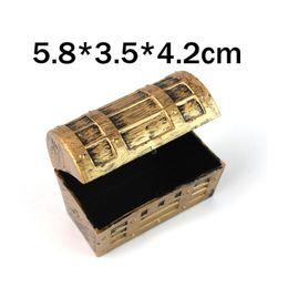 Wholesale jewelry treasure box - 5.8*3.5*4.2cm Pirate Jewelry Storage Box Case Holder Vintage Mini Treasure Chest Birthday Gift Party Favor ZA5683