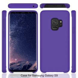 Wholesale Sumsung Galaxy Cases - Slim Liquid Silicone Original Rubber Case For Sumsung Galaxy S9 plus S9plus Candy Color Shockproof Cellphone Cases Phone Cover