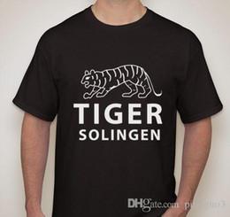 Tigre de algodão 3d on-line-TIGER Solingen Segunda Guerra Mundial WWII Alemão Dagger Espada Faca Lâmina Maker Marca Logo Camiseta de Algodão Legal Design 3D Camisetas T-Shirt