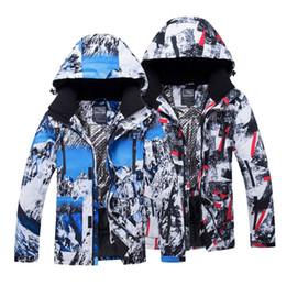 2019 зимняя лыжная куртка мужская водонепроницаемая Мужские лыжные куртки напечатаны водонепроницаемый ветрозащитный мужской лыжи сноуборд куртки зимние открытый спорт мужская кемпинг пешие прогулки пальто дешево зимняя лыжная куртка мужская водонепроницаемая