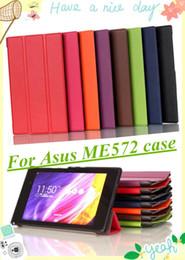 Canada Cas de support de haute qualité magnétique Smart Stand pour ASUS MeMO Pad 7 ME572C ME572CL ME572 cas de couverture de la tablette avec protecteur d'écran stylet supplier asus memo pad screen protector Offre
