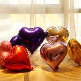 forma de estrella globos de aluminio Rebajas Globos de fiesta de 18 pulgadas Estrella / Decoración de forma de corazón Color metálico Globos de lámina infatable para el cumpleaños de la boda Ornamento de la fiesta de Navidad