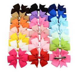 Wholesale hair products girls - Girl Candy Color Ribbon Hair Clips Baby New Fashion Hair Accessories Girls Head Wears Kids Children Hair Products YLC010