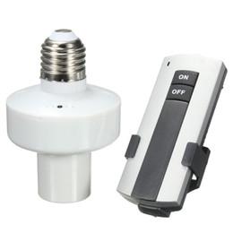 2019 extensor e27 E27 Tornillo Control remoto inalámbrico Lámpara de luz Titular de bombilla Tapa Socket Interruptor Nuevo Encendido Apagado para familia, oficina, fábrica y otros