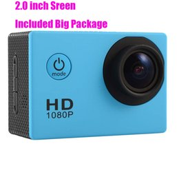 Wholesale Video Camera Big - Big package SJ4000 90 degree sports camera sports DV 2.0inch LCD HD 1080P 30m waterproof outdoor action video camera