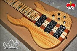 hals durch bass ahorn Rabatt 2018 neue hochwertige GYNT-0002 Burly ASH Holz Farbe Ahorn Hals durch 6 Saiten Bass-Gitarre, aktive Pickup, freies Verschiffen