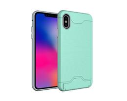 Canada Coffret téléphone mobile intelligent avec fente pour carte Armure couverture de protection de cas avec étui kickstand pour Iphone 9 9 plus Oppbag Offre